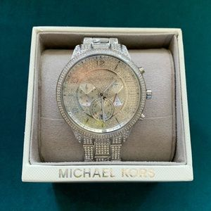 Michael kors bling / iced out watch